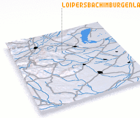 3d view of Loipersbach im Burgenland