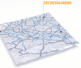3d view of Zecovski Jarak