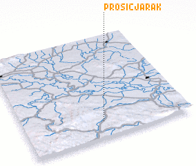 3d view of Prošić Jarak