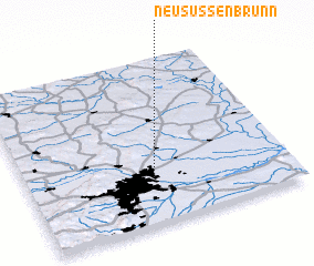 3d view of Neusüßenbrunn