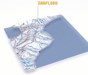 San Floro Italy map nonanet