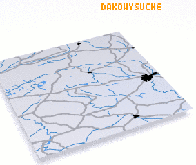 3d view of Dakowy Suche