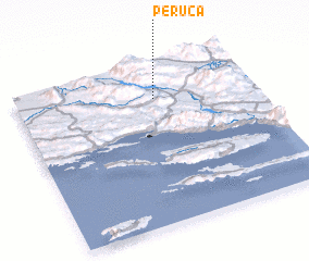 3d view of Peruća