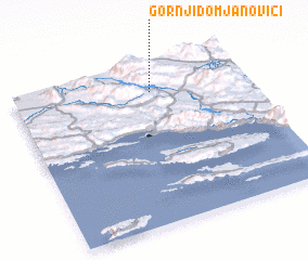 3d view of Gornji Domjanovići
