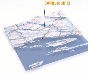 3d view of Gornji Jukići