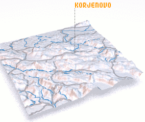 3d view of Korjenovo