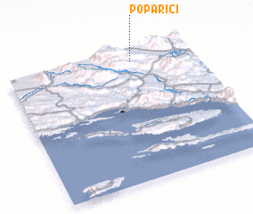 3d view of Poparići