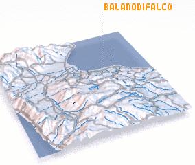 3d view of Balano di Falco