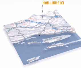 3d view of Konjikušići