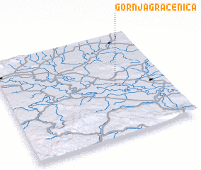 3d view of Gornja Gračenica
