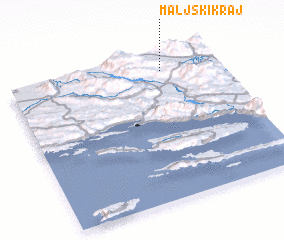 3d view of Maljski Kraj