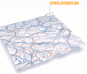 3d view of Gornji Kamičak