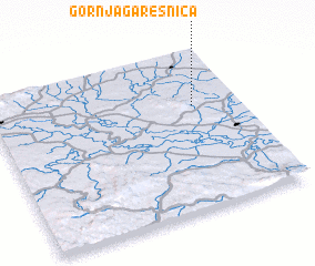 3d view of Gornja Garešnica