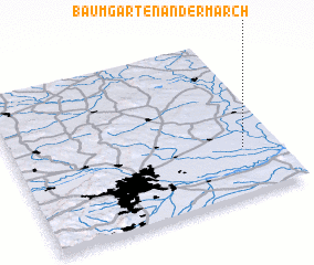 3d view of Baumgarten an der March