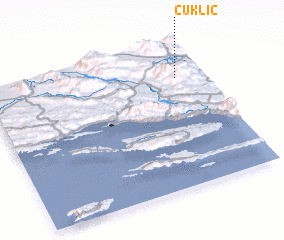 3d view of Čuklić