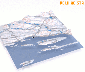 3d view of Velika Cista