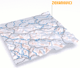 3d view of Zekanovići