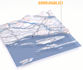 3d view of Gornji Galići