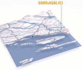 3d view of Gornji Galići