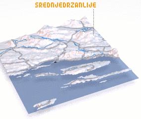 3d view of Srednje Držanlije