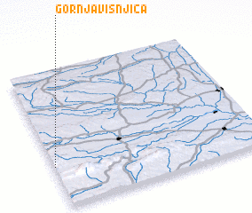 3d view of Gornja Višnjica