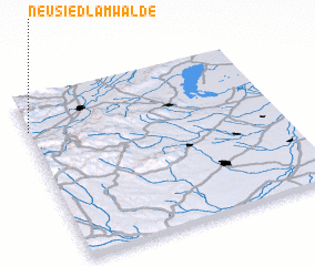 3d view of Neusiedl am Walde