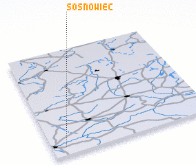 3d view of Sosnowiec