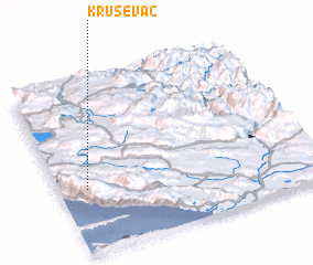 3d view of Kruševac
