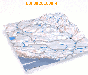 3d view of Donja Zečevina
