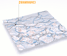 3d view of Zekanovići