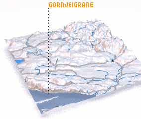 3d view of Gornje Igrane