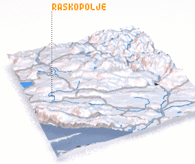 3d view of Raško Polje