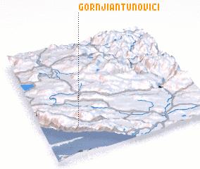 3d view of Gornji Antunovići