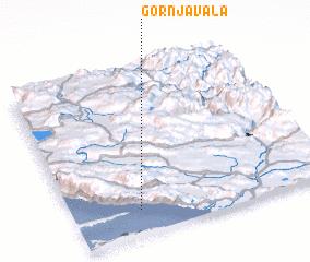 3d view of Gornja Vala