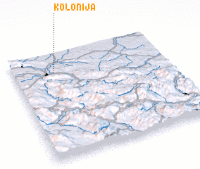 3d view of Kolonija