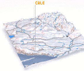 3d view of Čale