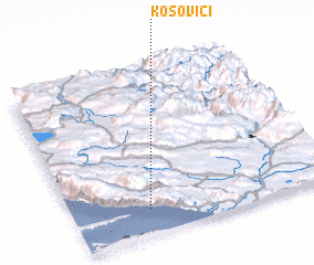 3d view of Kosovići