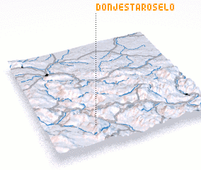 3d view of Donje Staro Selo