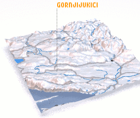 3d view of Gornji Jukići