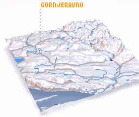 3d view of Gornje Ravno