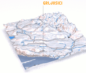 3d view of Grljušići