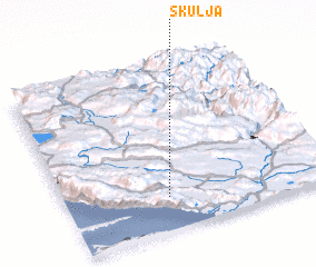 3d view of Škulja