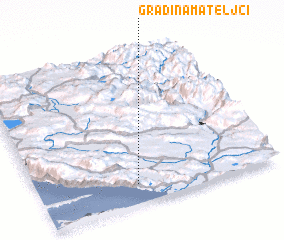 3d view of Gradina Mateljci
