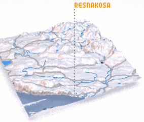 3d view of Resna Kosa