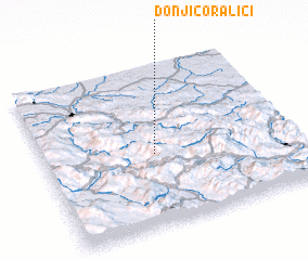 3d view of Donji Čoralići