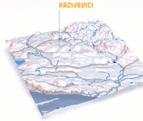3d view of Kazijevići