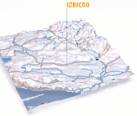 3d view of Izbično