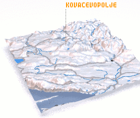 3d view of Kovačevo Polje