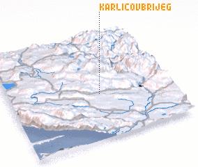 3d view of Karličov Brijeg