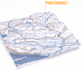3d view of Turčinovići